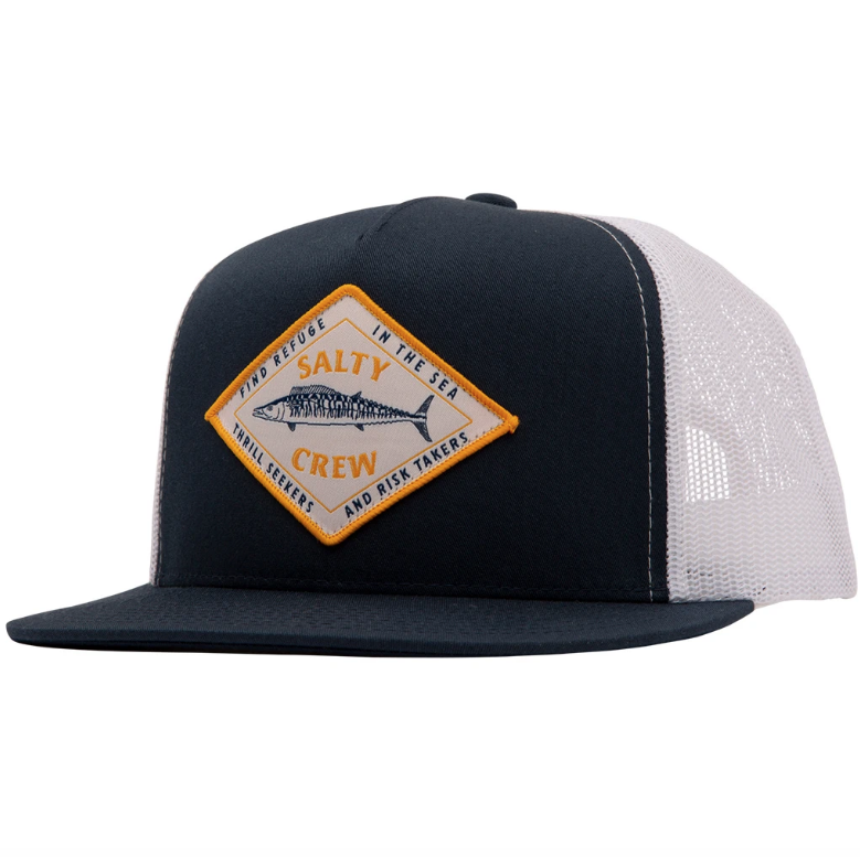 SALTY CREW Hot Wire Trucker Hat Navy/White MENS ACCESSORIES - Men's Baseball Hats Salty Crew