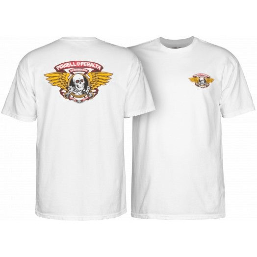 POWELL PERALTA Winged Ripper T-Shirt White MENS APPAREL - Men's Short Sleeve T-Shirts Powell Peralta