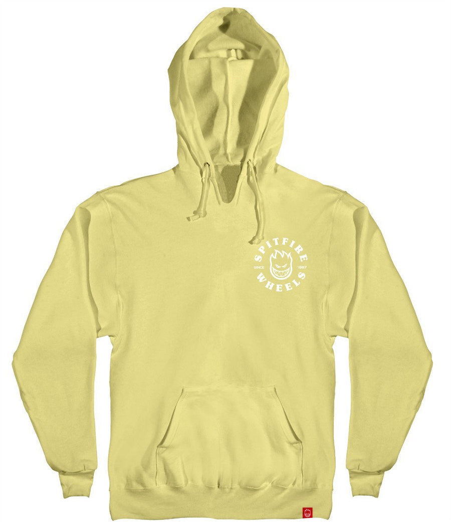 SPITFIRE Bighead Classic Pullover Hoodie Yellow/White
