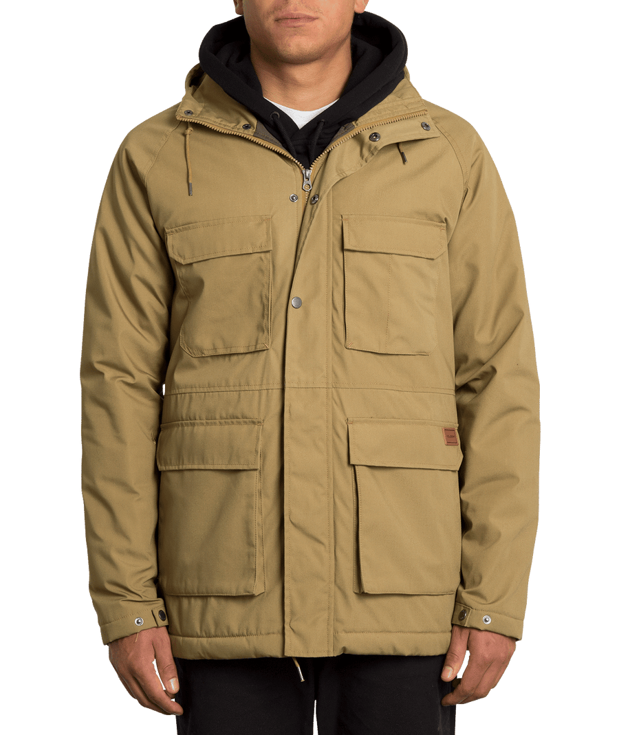VOLCOM Renton Winter 5K Jacket Dark Khaki MENS APPAREL - Men's Street Jackets Volcom