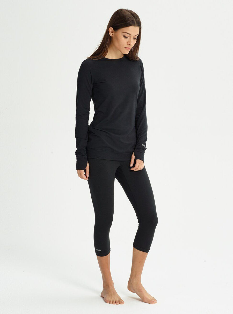 BURTON Midweight Base Layer Crew Women's True Black WOMENS OUTERWEAR - Women's Base Layer Burton