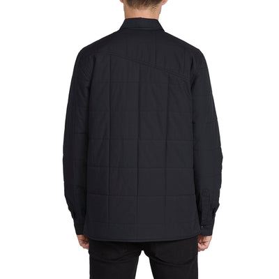 VOLCOM Larkin Quilted Jacket Black MENS APPAREL - Men's Street Jackets Volcom