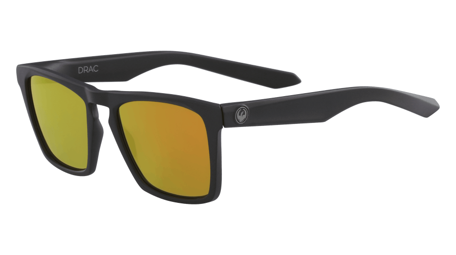 DRAGON Drac Matte Black - Orange Ion Sunglasses SUNGLASSES - Dragon Sunglasses Dragon