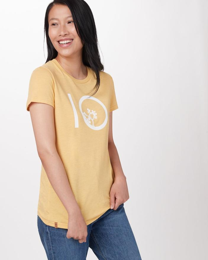 TENTREE Ten T-Shirt Women's Misted Yellow Heather WOMENS APPAREL - Women's T-Shirts Tentree