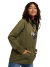 BURTON Oak Pullover Hoodie Women's Martini Olive Heather WOMENS APPAREL - Women's Pullover Hoodies Burton