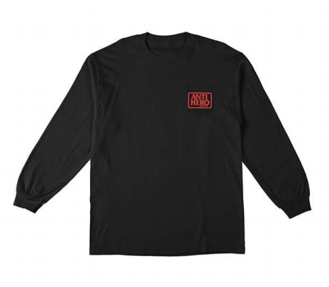 ANTIHERO Reserve Pocket L/S T-Shirt Black MENS APPAREL - Men's Long Sleeve T-Shirts Antihero