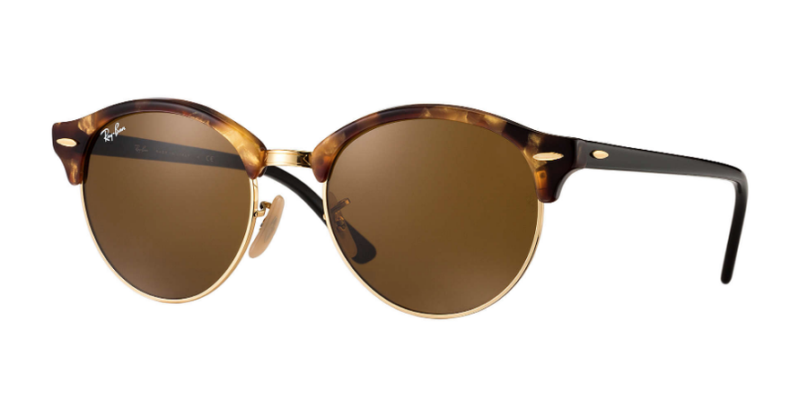 RAY-BAN Clubround Classic Tortoise/Black - Brown Classic B-15 Sunglasses