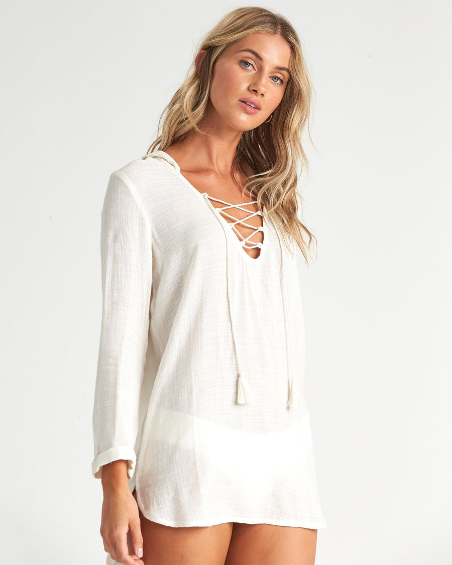 BILLABONG Same Story Swim Cover Up Women's Salt Crystal