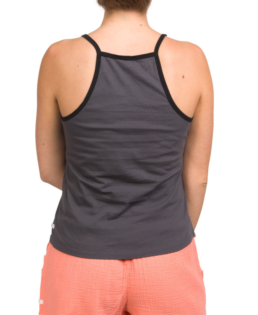 HURLEY Strappy Tank Women's Thunder Grey/Black WOMENS APPAREL - Women's Tank Tops and Halter Tops Hurley