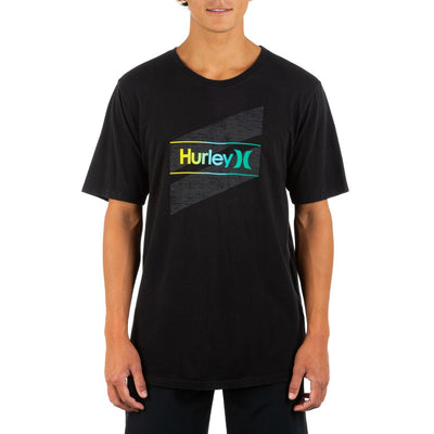 HURLEY Everyday Washed One And Only Slashed T-Shirt Black MENS APPAREL - Men's Short Sleeve T-Shirts Hurley M