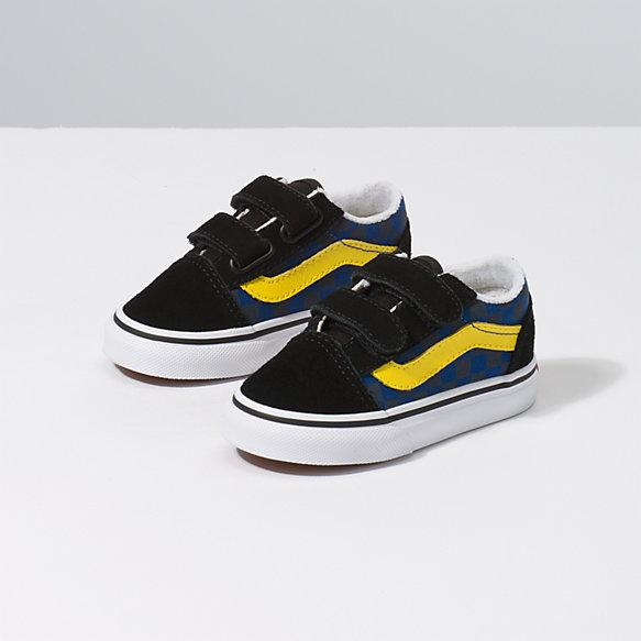 VANS Old Skool V Toddler Shoes Checkerboard OTW Rally