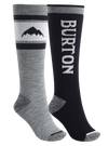 BURTON Weekend Midweight Snowboard Sock 2 Pack Women's True Black SNOWBOARD ACCESSORIES - Women's Snowboard Socks Burton