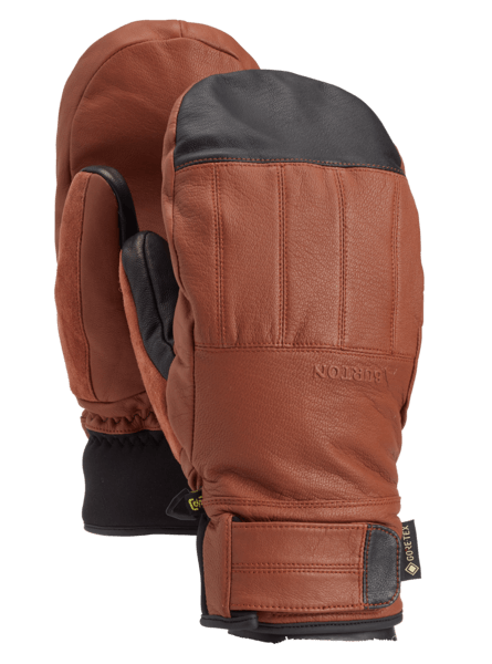 BURTON Gondy GORE-TEX Leather Mitten True Penny WINTER GLOVES - Men's Snowboard Gloves and Mitts Burton