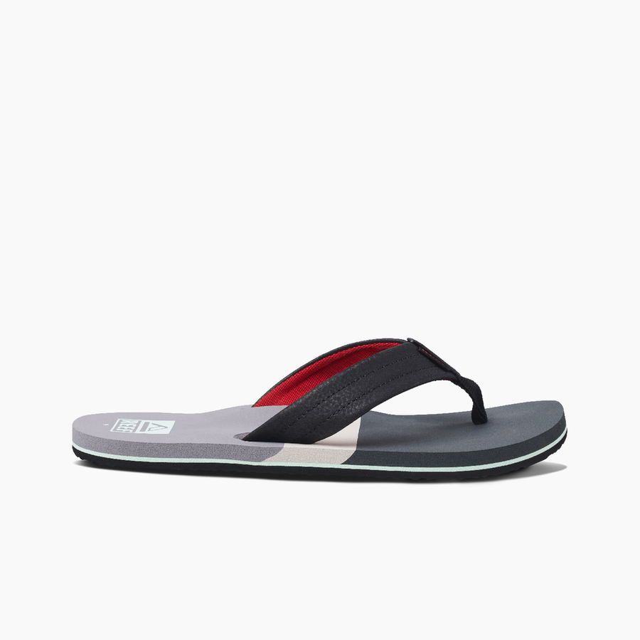 REEF Tri Waters Sandals Grey/Red FOOTWEAR - Men's Sandals Reef