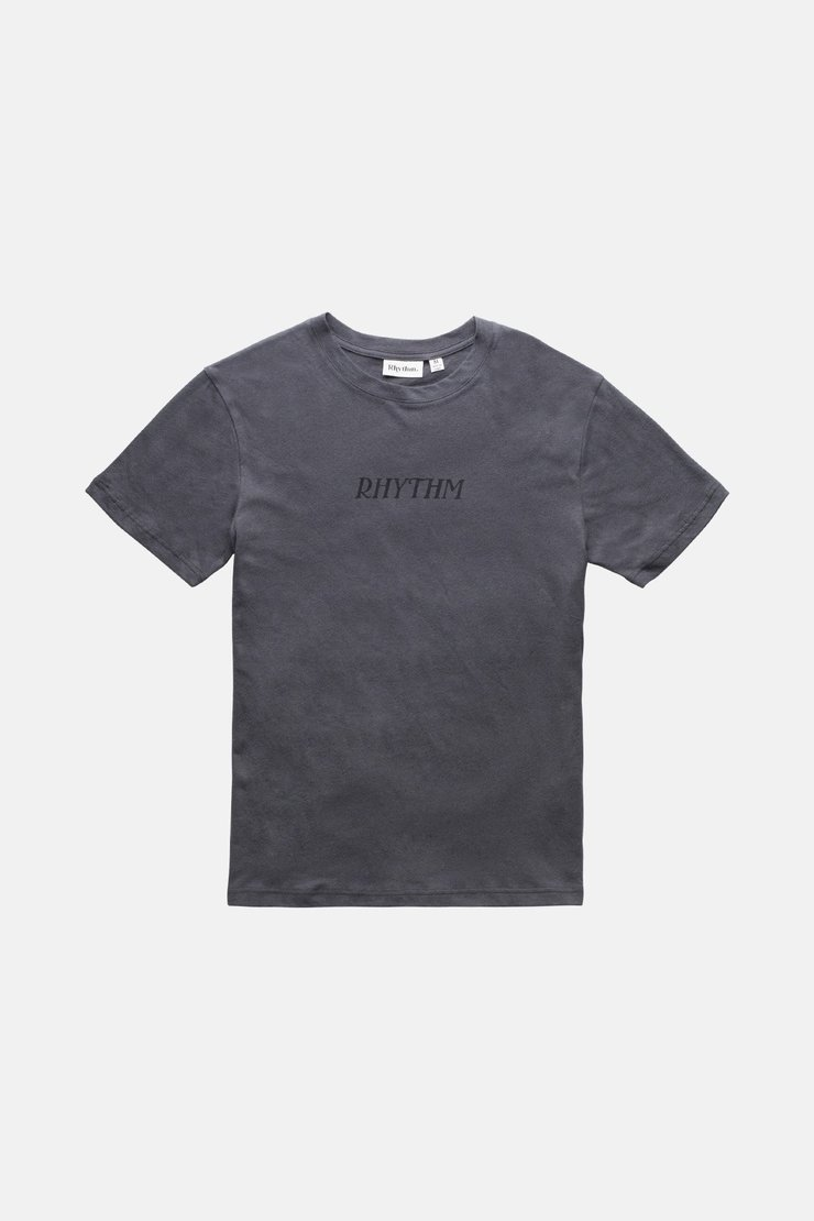 RHYTHM Essential Logo T-Shirt Charcoal MENS APPAREL - Men's Short Sleeve T-Shirts Rhythm