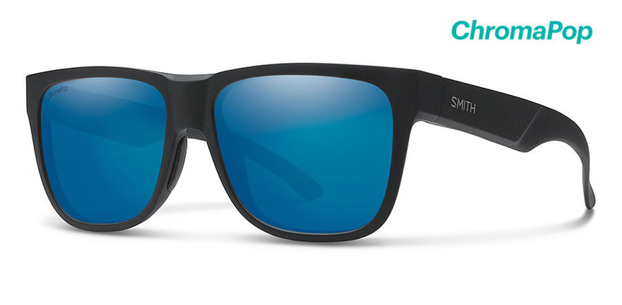 SMITH Lowdown 2 Matte Black - ChromaPop Polarized Blue Mirror Sunglasses