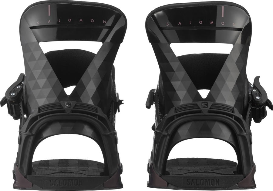 SALOMON Mirage Women's Snowboard Bindings Black/Burgundy 2021