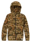 BURTON Spark Fleece Full Zip Hoodie Boys Kelp Birch Camo KIDS APPAREL - Boy's Zip Hoodies Burton