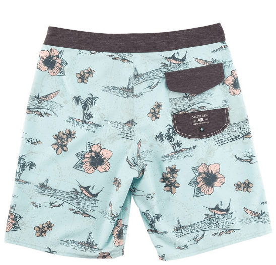 SALTY CREW Compass Boardshorts Mint MENS APPAREL - Men's Boardshorts Salty Crew