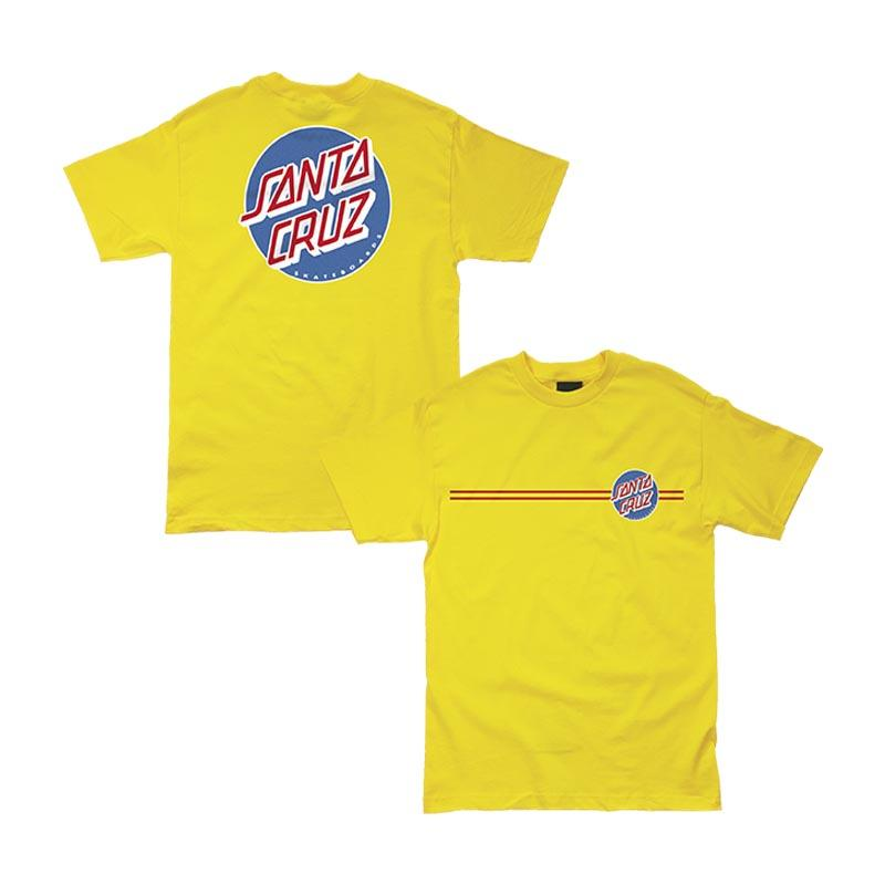 SANTA CRUZ Other Dot T-Shirt Yellow/RWB MENS APPAREL - Men's Short Sleeve T-Shirts Santa Cruz