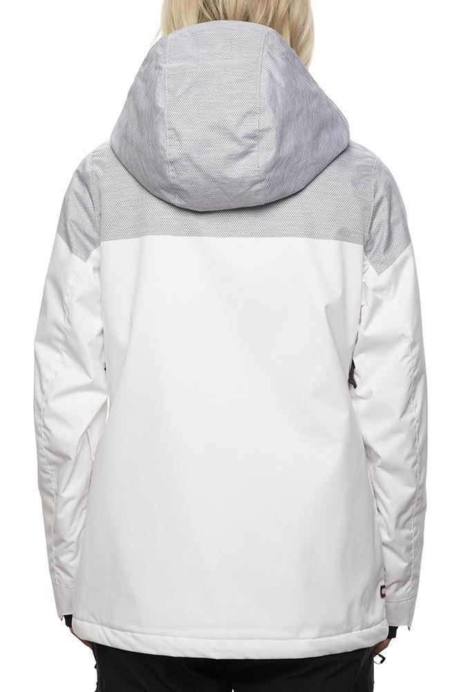 686 Treasure Insulated Snowboard Jacket Women's White Engineered 2021 WOMENS OUTERWEAR - Women's Snowboard Jackets 686