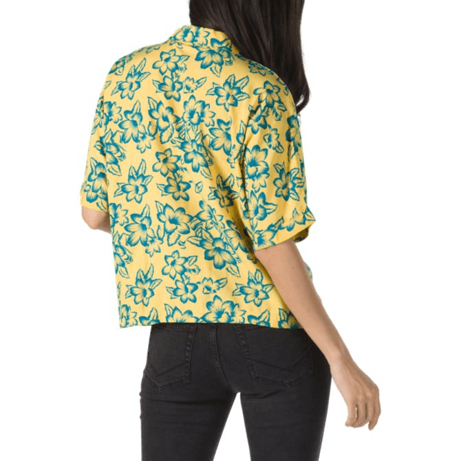 VANS Fare Woven S/S Button Up Shirt Women's Yolk Electric Floral WOMENS APPAREL - Women's Flannels and Button Ups Vans