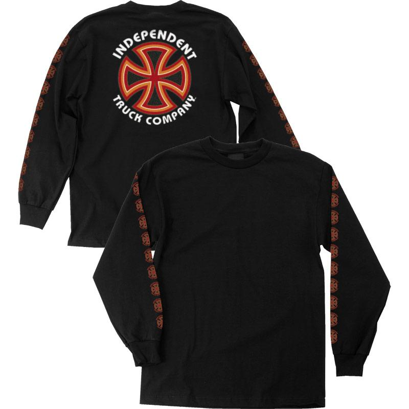 INDEPENDENT Bauhau Cross L/S T-Shirt Black