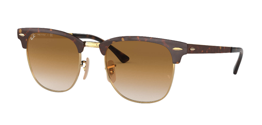 RAY-BAN Clubmaster Metal Tortoise - Light Brown Gradient Sunglasses