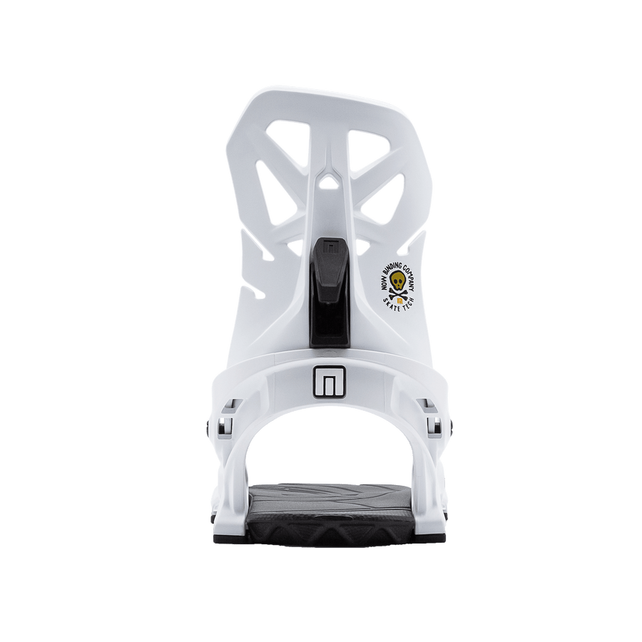 NOW Brigade Snowboard Bindings White 2021 SNOWBOARD BINDINGS - Men's Snowboard Bindings Now Bindings