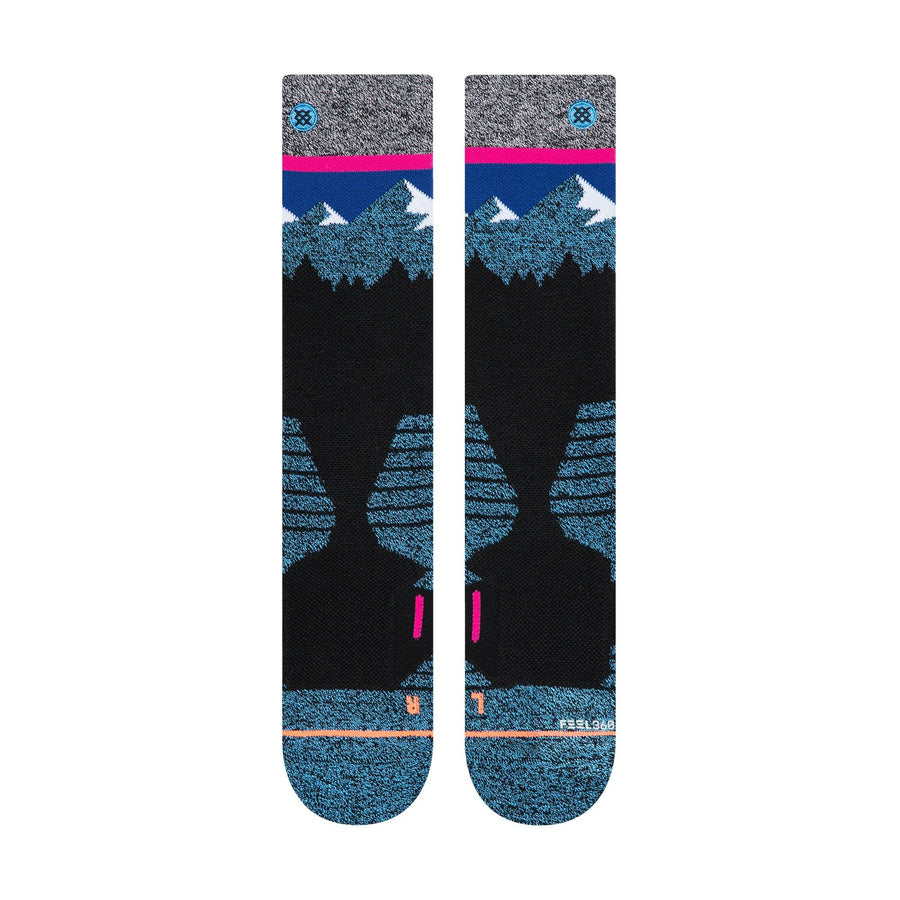 STANCE Ridge Line Women's Snow Socks Black SNOWBOARD ACCESSORIES - Women's Snowboard Socks Stance