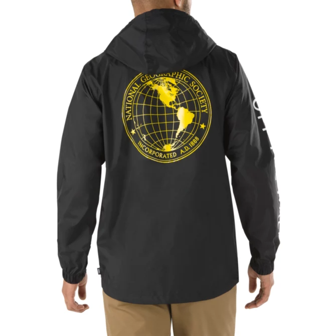 VANS X NATIONAL GEOGRAPHIC Anorak Black/Nat Geo MENS APPAREL - Men's Street Jackets Vans