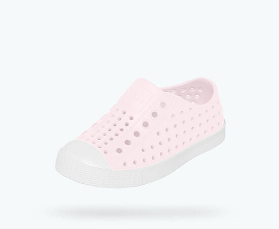 NATIVE Jefferson Child Shoes Milk Pink/Shell White