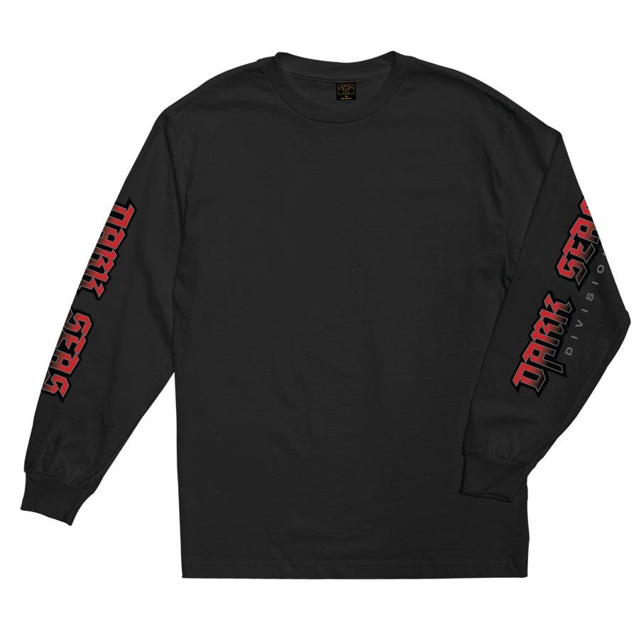 DARK SEAS Raw Power Long Sleeve T-Shirt Black MENS APPAREL - Men's Long Sleeve T-Shirts Dark Seas