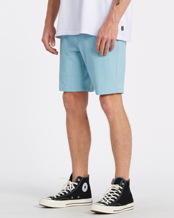 "BILLABONG New Order Slub Submersible 19"" Hybrid Shorts Harbor Blue"