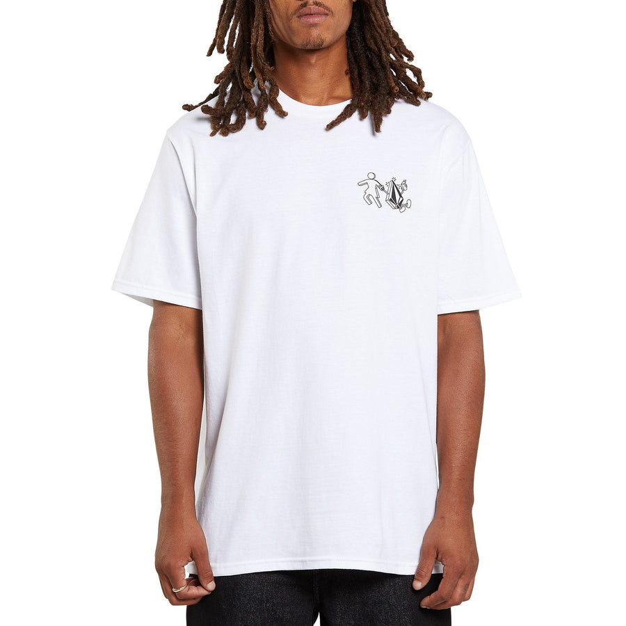 VOLCOM Stonely Short Sleeve T-Shirt White MENS APPAREL - Men's Short Sleeve T-Shirts Volcom