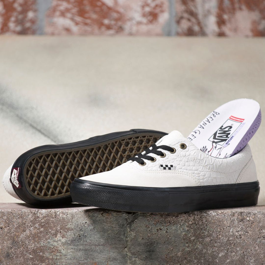 VANS Skate Era Shoes (Breana Geering) Marshmallow/Black