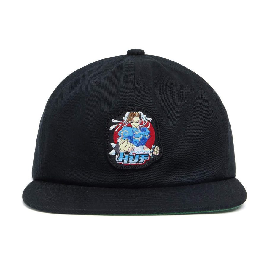 HUF x Street Fighter Chun Li Snapback Hat Black