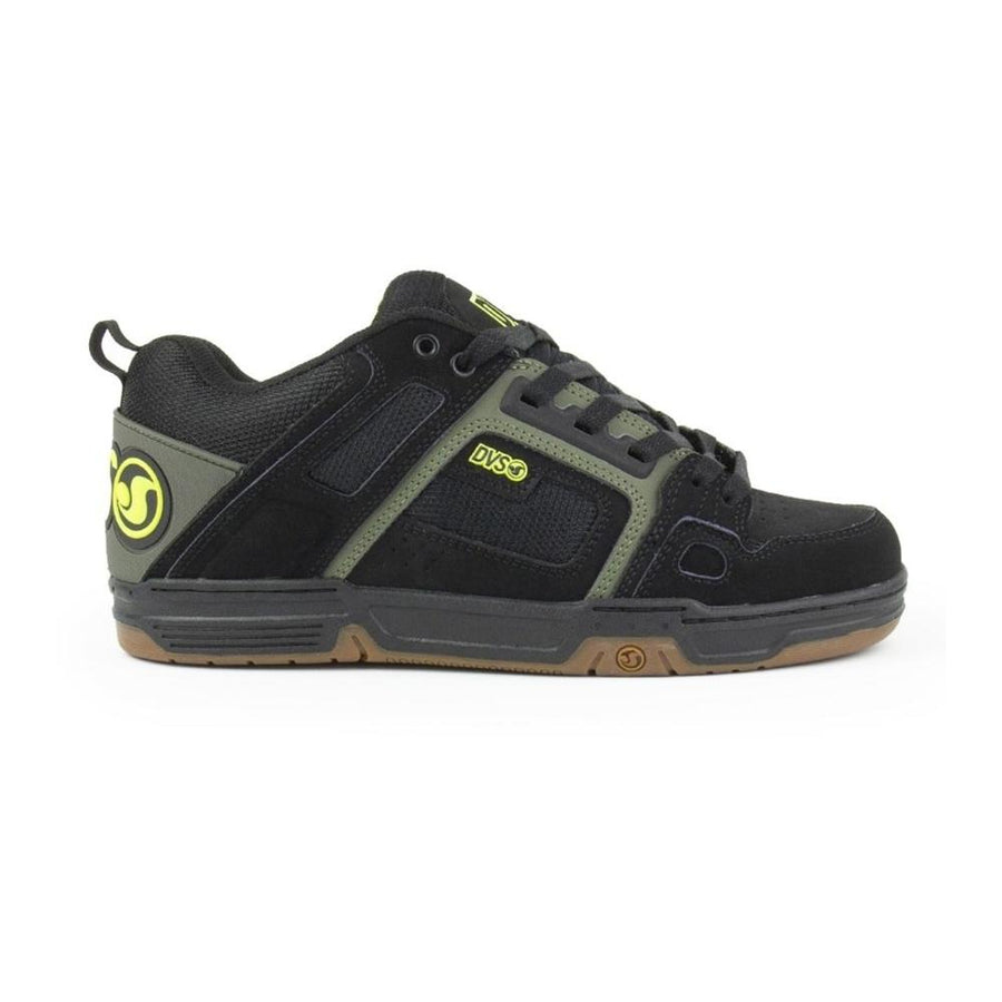 DVS Comanche Shoes Black/Olive/Gum Nubuck FOOTWEAR - Men's Skate Shoes DVS