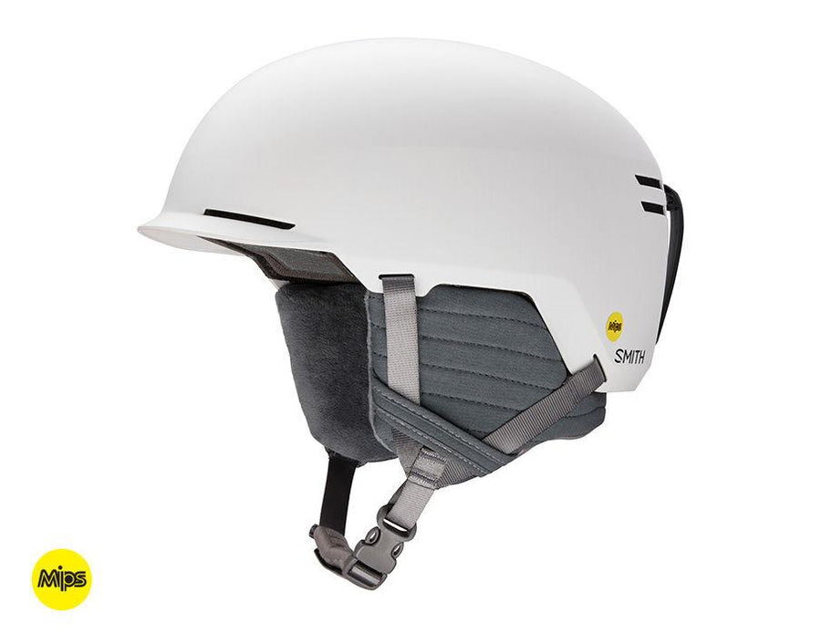 SMITH Scout MIPS Snow Helmet Matte White 2021 SNOWBOARD ACCESSORIES - Men's Snowboard Helmets Smith