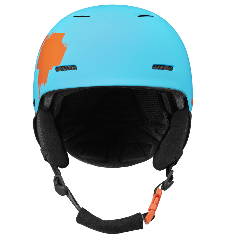 SPY Lil' Astronomic MIPS Snow Helmet Youth Matte Blue - Orange Splatter Logo 2021 SNOWBOARD ACCESSORIES - Youth Snowboard Helmets Spy
