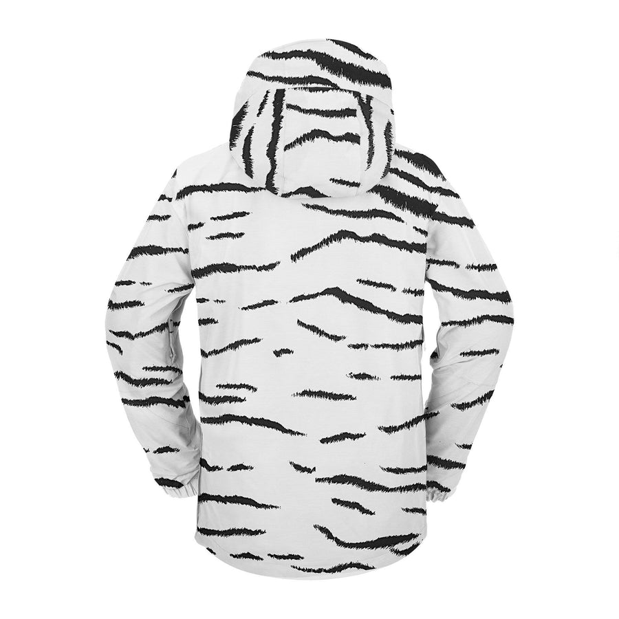 VOLCOM Melo GORE-TEX Pullover Snowboard Jacket White Tiger 2021 MENS OUTERWEAR - Men's Snowboard Jackets Volcom