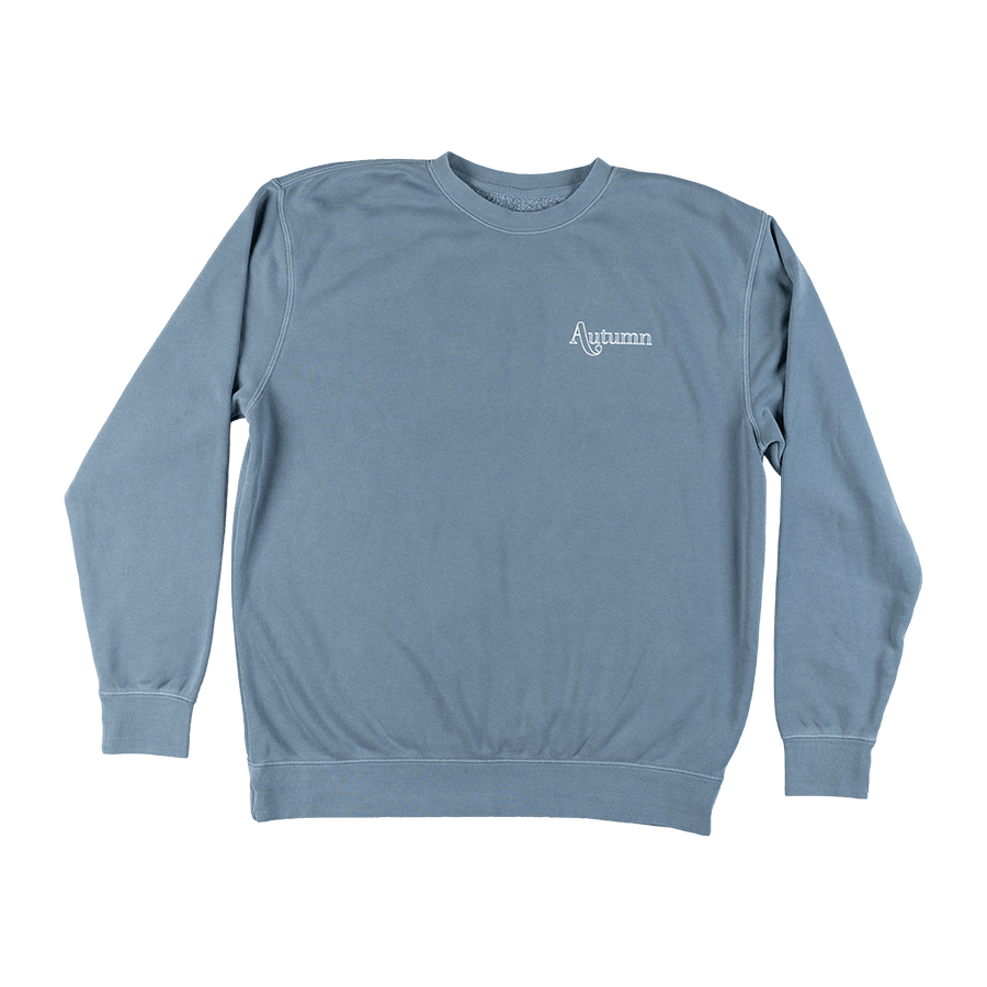 AUTUMN Flowers Crew Slate Blue MENS APPAREL - Men's Sweaters and Sweatshirts Autumn