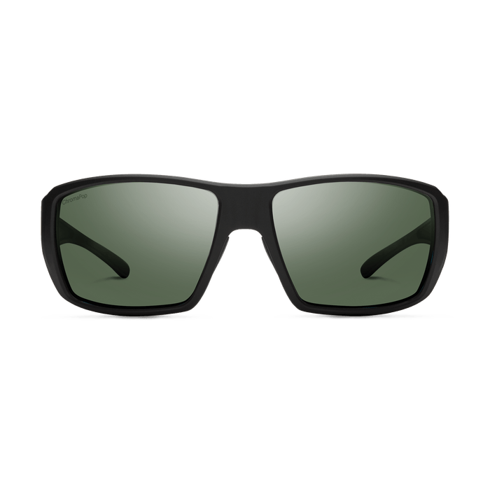 SMITH Guide's Choice Matte Black - ChromaPop Gray Green Polarized Sunglasses SUNGLASSES - Smith Sunglasses Smith