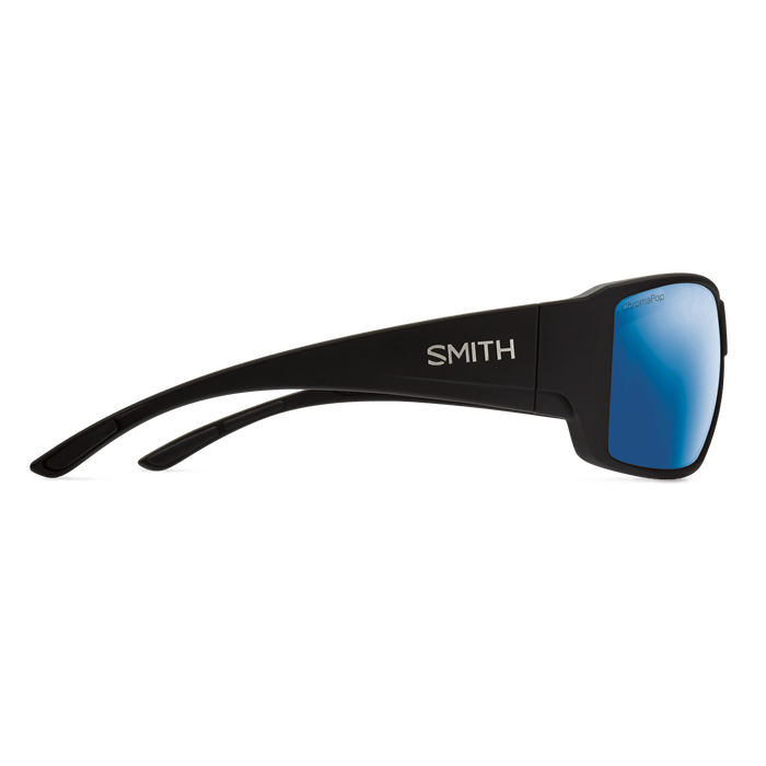 SMITH Guide's Choice Matte Black - ChromaPop Blue Mirror Polarized Sunglasses SUNGLASSES - Smith Sunglasses Smith