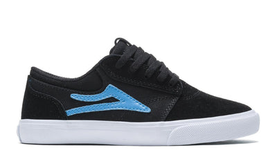 LAKAI Griffin Shoes Kids Black/Cyan Suede FOOTWEAR - Youth and Toddler Skate Shoes Lakai