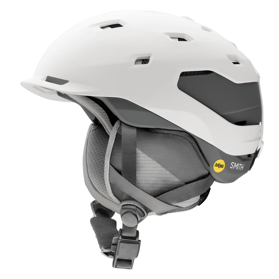 SMITH Quantum MIPS Snow Helmet Matte White/Charcoal 2021 SNOWBOARD ACCESSORIES - Men's Snowboard Helmets Smith