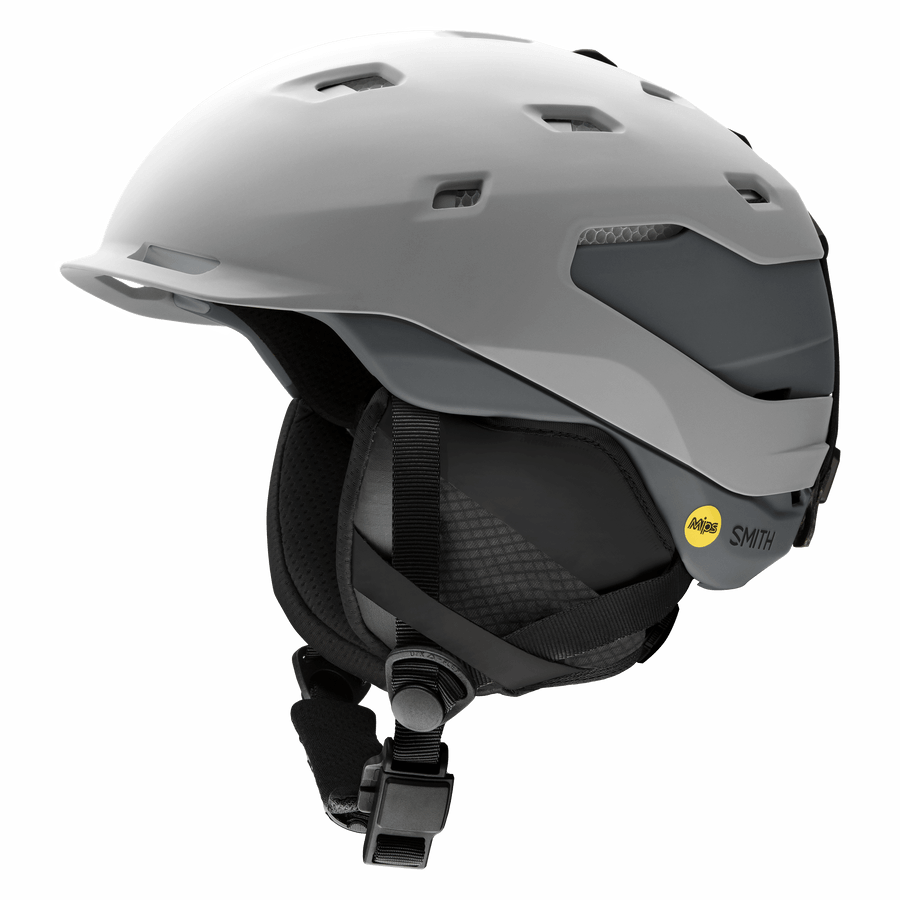 SMITH Quantum MIPS Snow Helmet Matte Cloudgrey/Charcoal 2021 SNOWBOARD ACCESSORIES - Men's Snowboard Helmets Smith