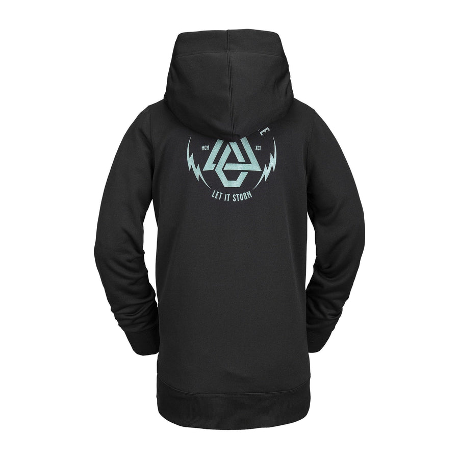 VOLCOM Spring Shred Pullover Hoodie Women's Black WOMENS APPAREL - Women's Pullover Hoodies Volcom