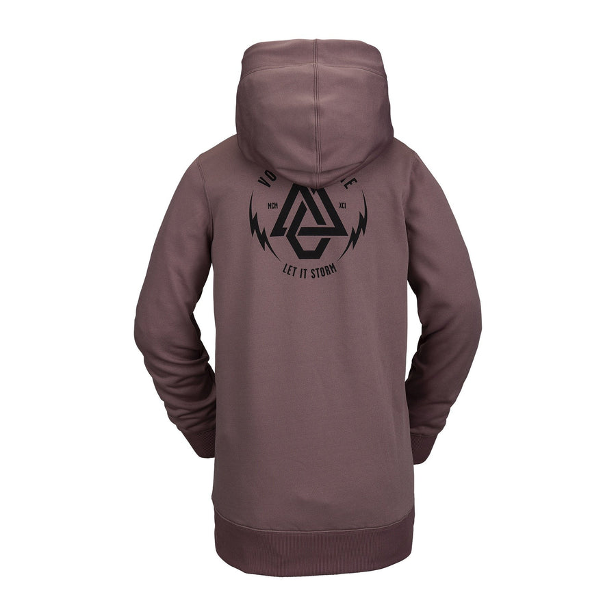 VOLCOM Spring Shred Pullover Hoodie Women's Rose Wood WOMENS APPAREL - Women's Pullover Hoodies Volcom