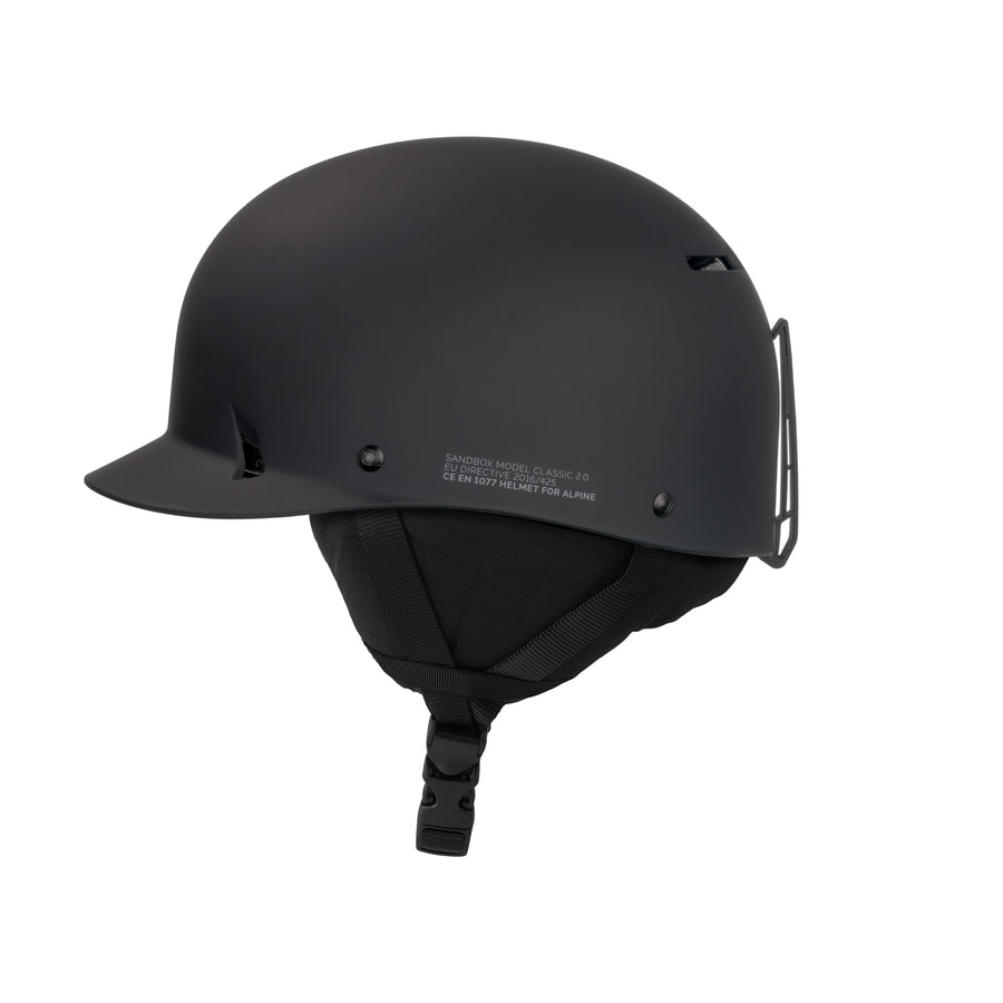 SANDBOX Classic 2.0 Snow Helmet Black 2021 SNOWBOARD ACCESSORIES - Men's Snowboard Helmets Sandbox